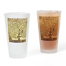 Tree of Life by Gustav Klimt Drinking Glass