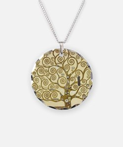 Tree of Life by Gustav Klimt Necklace