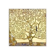 "Tree of Life by Gustav Klim Square Sticker 3"" x 3"""