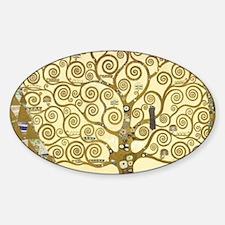Tree of Life by Gustav Klimt Sticker (Oval)