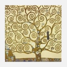 Tree of Life by Gustav Klimt Tile Coaster