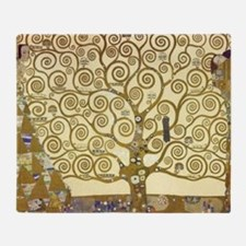 Tree of Life by Gustav Klimt Throw Blanket