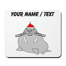 Custom Christmas Walrus Mousepad