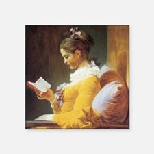 """jf_ayounggirlreading Square Sticker 3"""" x 3"""""""