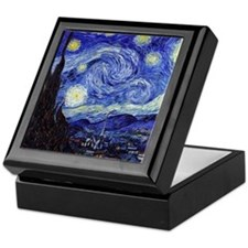 Starry Night by Vincent van Gogh Keepsake Box