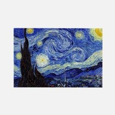 Starry Night by Vincent van Gogh Rectangle Magnet