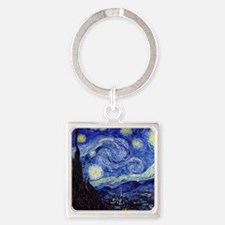 Starry Night by Vincent van Gogh Square Keychain