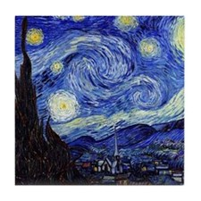 Starry Night by Vincent van Gogh Tile Coaster