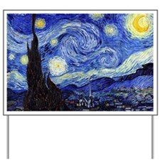 Starry Night by Vincent van Gogh Yard Sign