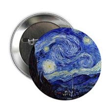 "Starry Night by Vincent van Gogh 2.25"" Button"