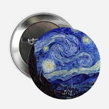"""Starry Night by Vincent van Gogh 2.25"""" Button"""