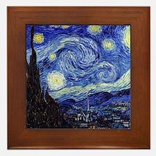 Starry Night by Vincent van Gogh Framed Tile