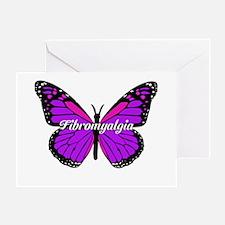 Fibromyalgia Monarch Greeting Cards