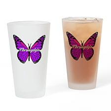 FIBROMYALGIA MONARCH Drinking Glass