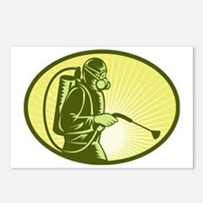 Pest control exterminator Postcards (Package of 8)