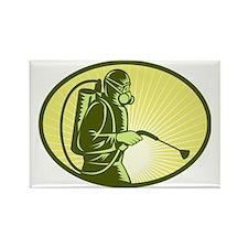 Pest control exterminator sprayin Rectangle Magnet
