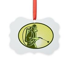 Pest control exterminator sprayin Ornament