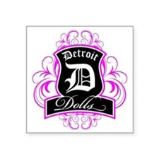 "Detroit Dolls Logo Square Sticker 3"" x 3"""
