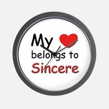 My heart belongs to sincere Wall Clock