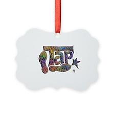 Tap spectrum clay Picture Ornament