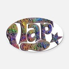 Tap spectrum clay Oval Car Magnet