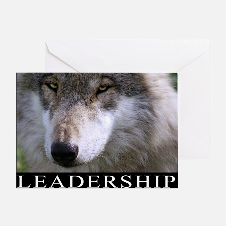 Leadership Motivational Poster Greeting Card
