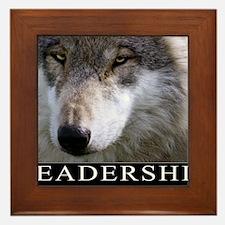 Leadership Motivational Poster Framed Tile