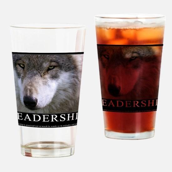 Leadership Motivational Poster Drinking Glass