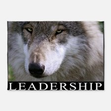 Leadership Motivational Poster 5'x7'Area Rug