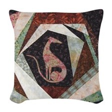 All That Jazz Woven Throw Pillow