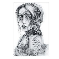 Mermaid Mask Postcards (Package of 8)