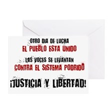 JUSTICIA Y LIBERTAD_red Greeting Card