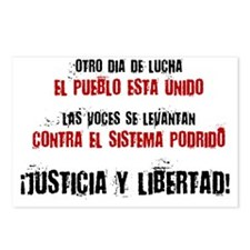 JUSTICIA Y LIBERTAD_red Postcards (Package of 8)