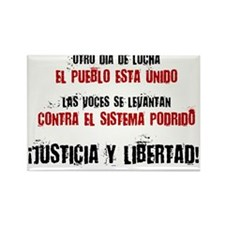 JUSTICIA Y LIBERTAD_red Rectangle Magnet