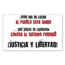 JUSTICIA Y LIBERTAD_red Decal