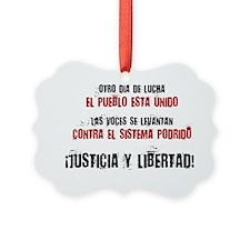 JUSTICIA Y LIBERTAD_red Ornament
