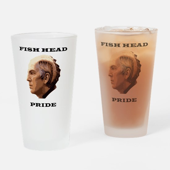 Fish Head Pride Drinking Glass