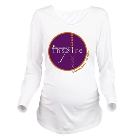 2010-SWM-Logo Long Sleeve Maternity T-Shirt