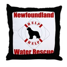 HelpNewfHelp Throw Pillow