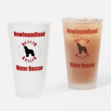 HelpNewfHelp Drinking Glass