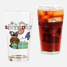 BEARTEDDY4TH Drinking Glass