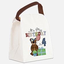 BEARTEDDY4TH Canvas Lunch Bag