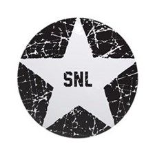 SNL Black Star Round Ornament