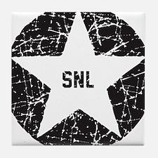 SNL Black Star Tile Coaster