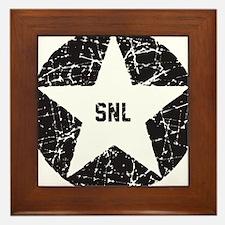 SNL Black Star Framed Tile
