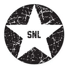 SNL Black Star Round Car Magnet