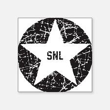 "SNL Black Star Square Sticker 3"" x 3"""