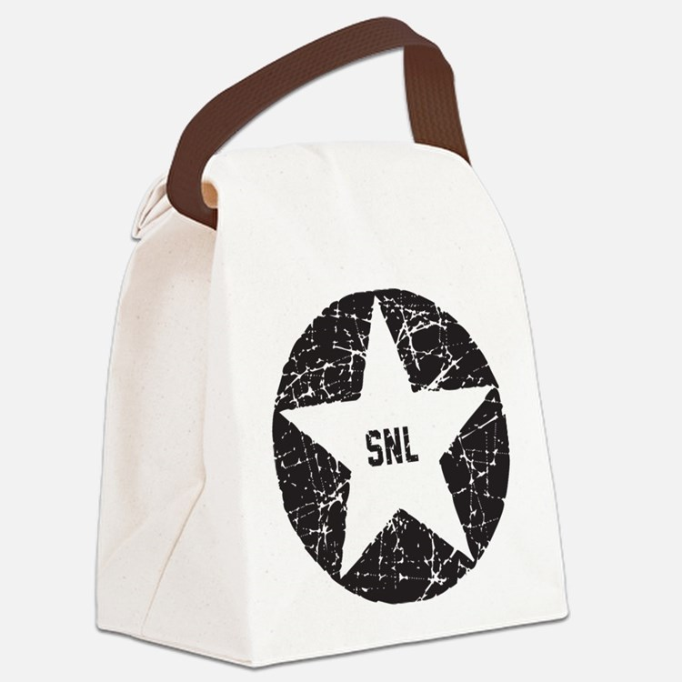 SNL Black Star Canvas Lunch Bag