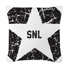 SNL Black Star Woven Throw Pillow