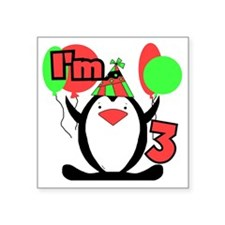 """PENGUIN3 Square Sticker 3"""" x 3"""""""